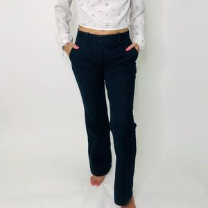 Theory Mid Rise Flare Dark Wash Trouser Jeans
